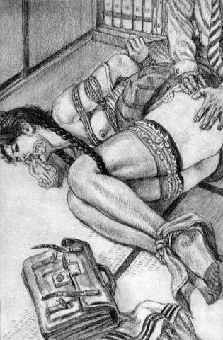 Erotic bondage illustrations